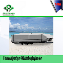 Waterproof Polyester Square 600D Extra Heavy Duty Boat Cover