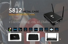 Factory supply Metal Case K6 Android6.0 OTT TV Box S812 Quad Cord RAM 2gb ROM 16gb 4K IPTV with 2.4G Air mouse accept OEM
