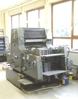 1-color offset printing press Heidelberg MO-E