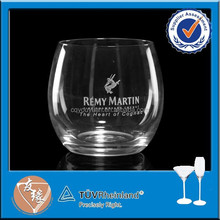 High flint 10 oz whisky rock glass with fire-polished rim