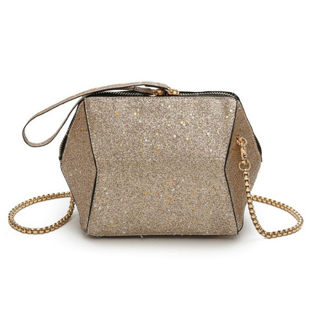 European style trend of female style solid small bag leather sequins bag