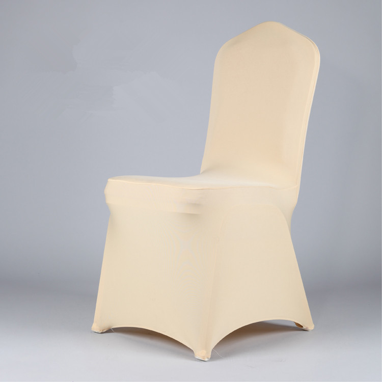 Gold color Spandex Lycra Chair Cover for wedding