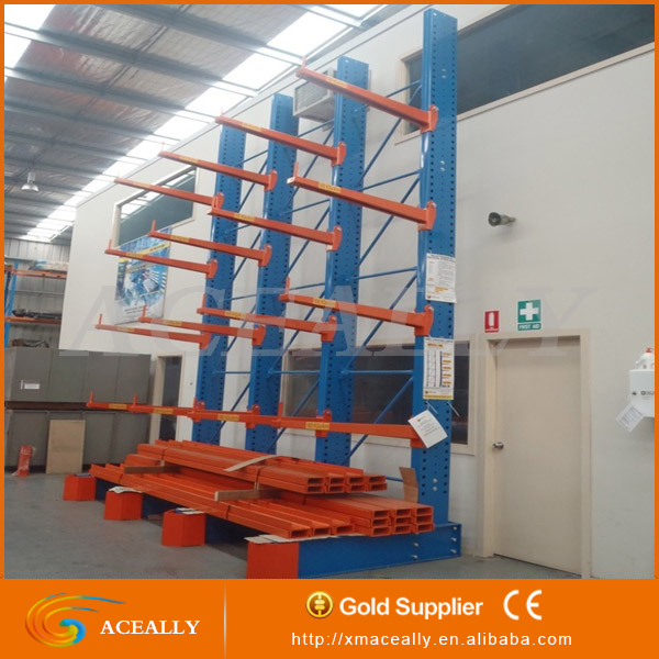 manufacturer selective Double Armed Galvanized Cantilever Shelving Racks