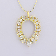 18K Gold Plated Elegent Party Pendant Necklace Alloy Jewelry