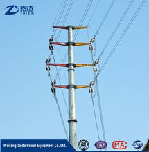 Philippines Tapered 110kV 9M 200daN 300daN Transmission Line Steel Pole Tower