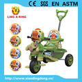 children tricycle hot sale duck face baby tricycle with canopy and pushbar