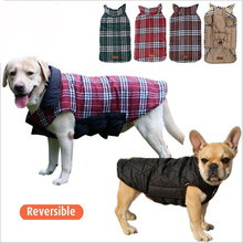 Winter Reversible Fleece Checked Dog Clothes