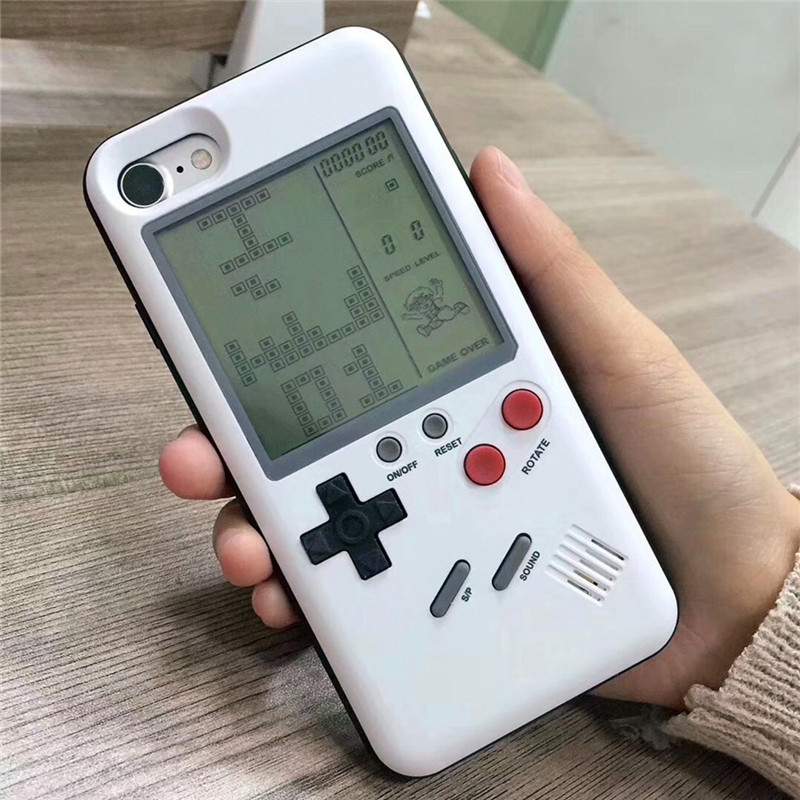 Unique Multi Phone Cases For <strong>Iphone</strong> 6 6S 7 8 Plus Cases TPU Case Tetris Game Console Appearance Protection Cover Gift For Child