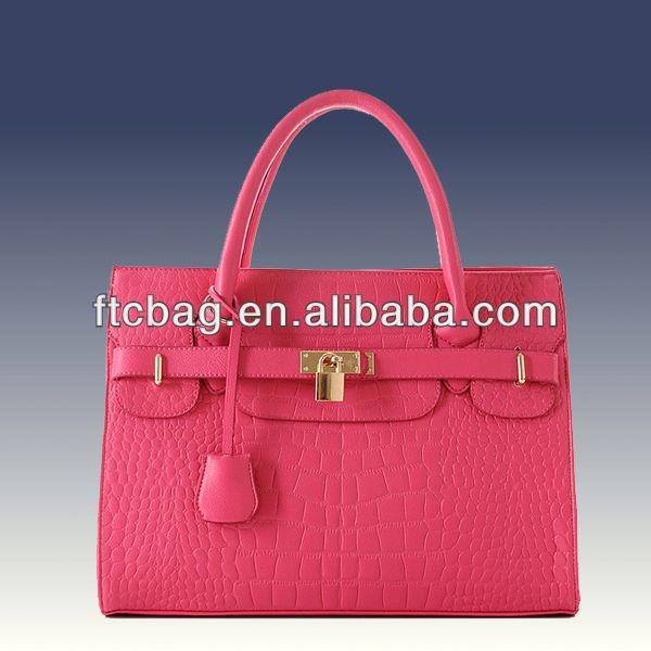 Brand Fashion Plain leather tote bag