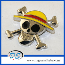 Alloy Skull Shape Anime Jewelry One Piece Brooch