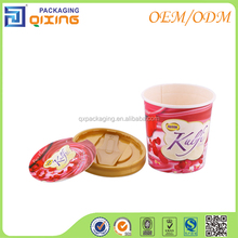 Small Size Cup For Ice Cream/Frozen Yogurt/Cupcake With Spoon In Lid Custom Design