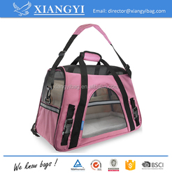 Airline approved durable polyester material pet carriers soft bottom borad pet carrier pet bag for dog cat