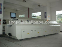GSD-L8 wide conveyor Automatic lead free reflow oven 8 heatig zones,professional smt manufacturer