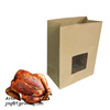 Clear Window Cut Grill Roast Baked Chicken Paper Packaging bag