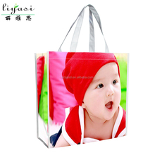 Full Printed Reusable Easy Carrying Foldable Recyclable Nonwoven Tote Shopping Bag,Promotional Laminated Cute Non Woven Tote Bag
