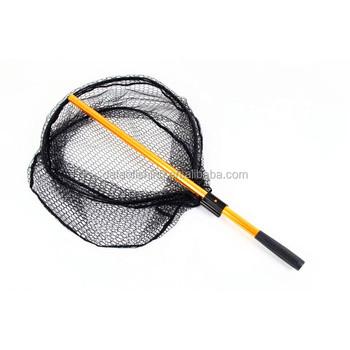 Long handle folding fishing salmon scoop landing nets for Long handle fishing net