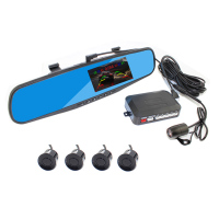 Car mirror video parking sensor with car dvr and radar sensor together