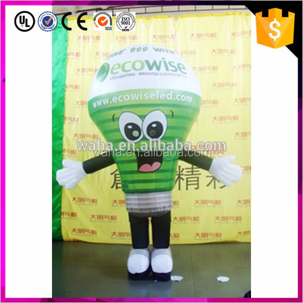 Custom made advertising use inflatable light bulb costume