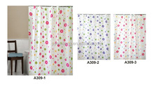 2014 Hot sell PEVA new printed shower curtain for bathroom