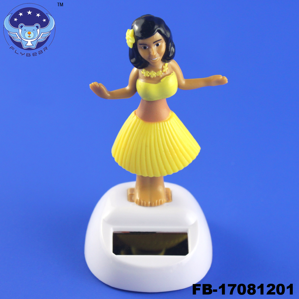 Hula girl solar powered dancing figure toy Promotional Solar Bobble Head Doll