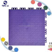 PP interlocking modular tile flex court outdoor basketball floor