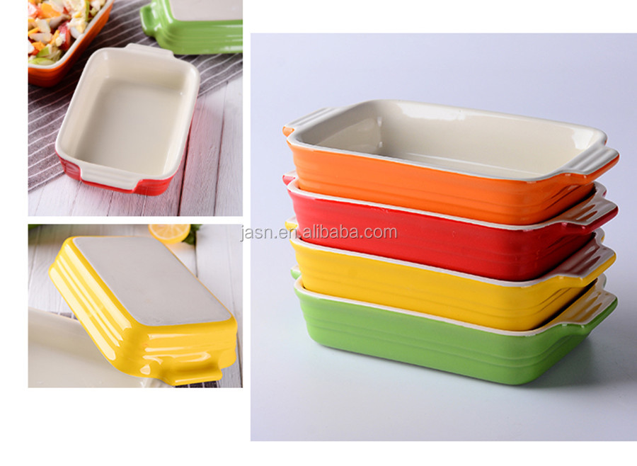 Wholesale Eco-friendly ceramic bakeware dinnerware set