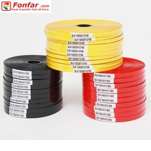 China scrap manufacture Hot stamping Coding marking tape Foil for cable batch number printing