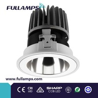 Fullamps 18W cob led downlight project lighting commercial & architectural spot lights reflector sharp cob chip led driver