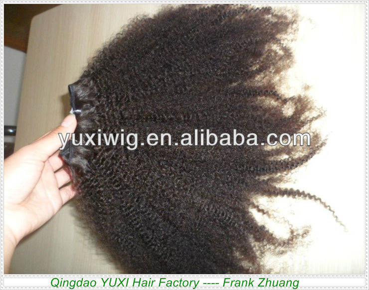 factory cheap price afro kinky human hair unique quality