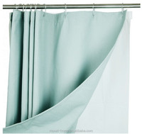 double swag shower curtain