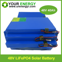 Euro certificate powerful 48v lithium iron phosphate battery with 2000 times cycle life warranty