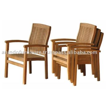 Teak Outdoor Furniture - Marley Stacking Chair