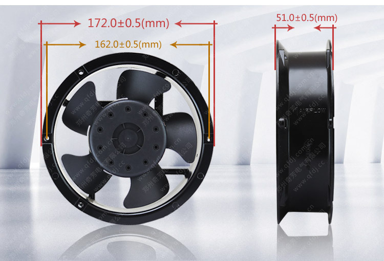 High speed industrial exhaust fan 172*172*50mm 220V AC variable speed exhaust fan