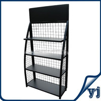 Metal display rack/ display stand/ wire shelving with powder coating finish for displaying