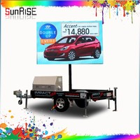 P8 mobile /trailer/SMD Advertising electronic led display full color led display for mobile trailer led cricket live sign