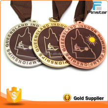 Cheap gold silver copper metal custom championship award medal / medals