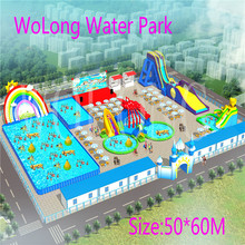 dinosaur Inflatable water park animal slide pool