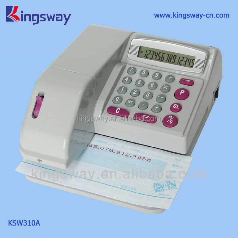 Trade Assurance Supplier Kingsway Check writer 310.