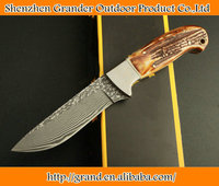 pure hand made damascus steel straight knife damascus hunting knives collection knife 4584