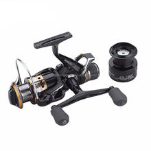 Free Spare Spool Front and Rear Drag System 10+1BB Carp Fishing Bait Runner Fishing Reels