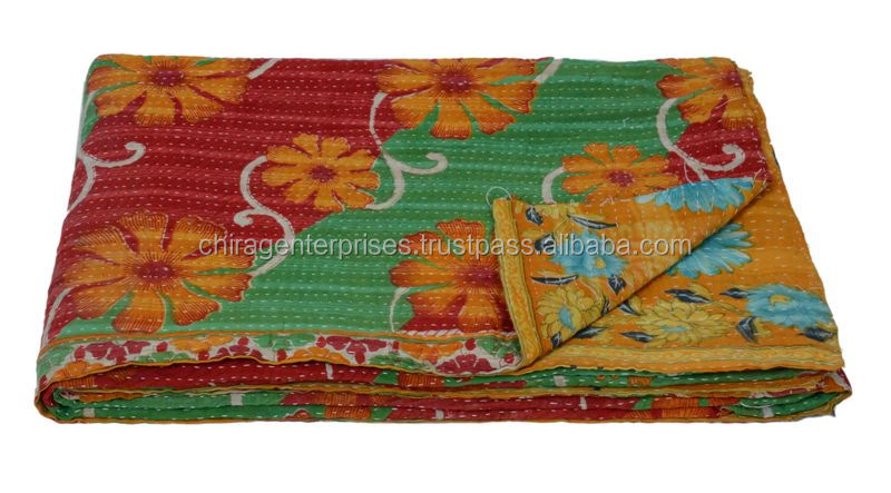 Best Deal Today~Decorative Vintage Kantha Sari Patchwork Throws-Best Bargain Best Buy Last Minute Deal