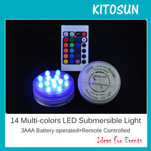 Battery operated Remote controlled 14 Multi-colors brand new LED Submersible Floralyte