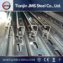 Q345 GI C purlin steel frame C section slotting C channel