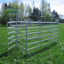 A.S.O company cheap heavy duty galvanized cattle yard panel /used horse corral panels