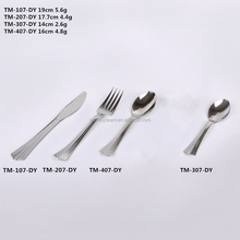 Plastic Cutlery Set in Silver Color