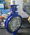 wafer ends type metal seat butterfly valve with bare shaft