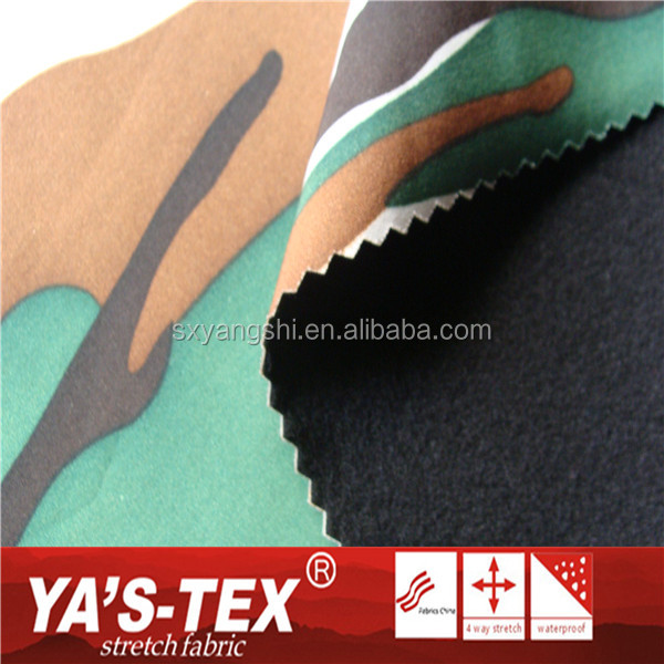 Shaoxing Textile Waterproof Camouflage Printing Polyester Stretch Fabric For Tent
