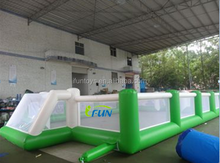 popular sport game soccer paly arena/portable inflatable panna soccer cage /inflatable football field for playground
