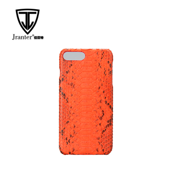 Fancy Exotic Leather Mobile Phone Shell, Custom Python Snakeskin Accessories Mobile Phone Case