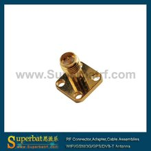 RP SMA 4 hole panel mount Jack connector 3g antenna cable sma
